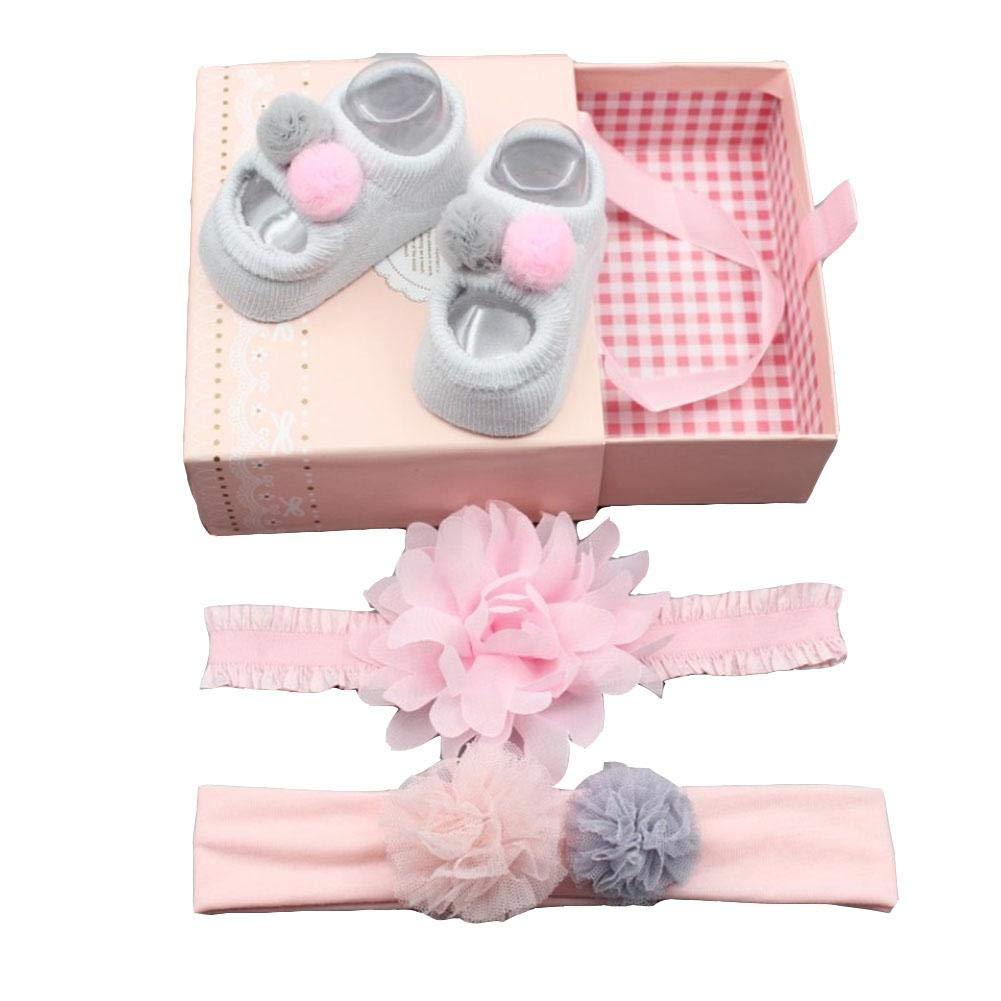 Calzini per bambini,Capelli Bambina Neonata Annodato La Farfalla capelli per 3 set e calze per scarpe set grazioso carino capelli acconciatura nascita regalo compleanno confezione regalo