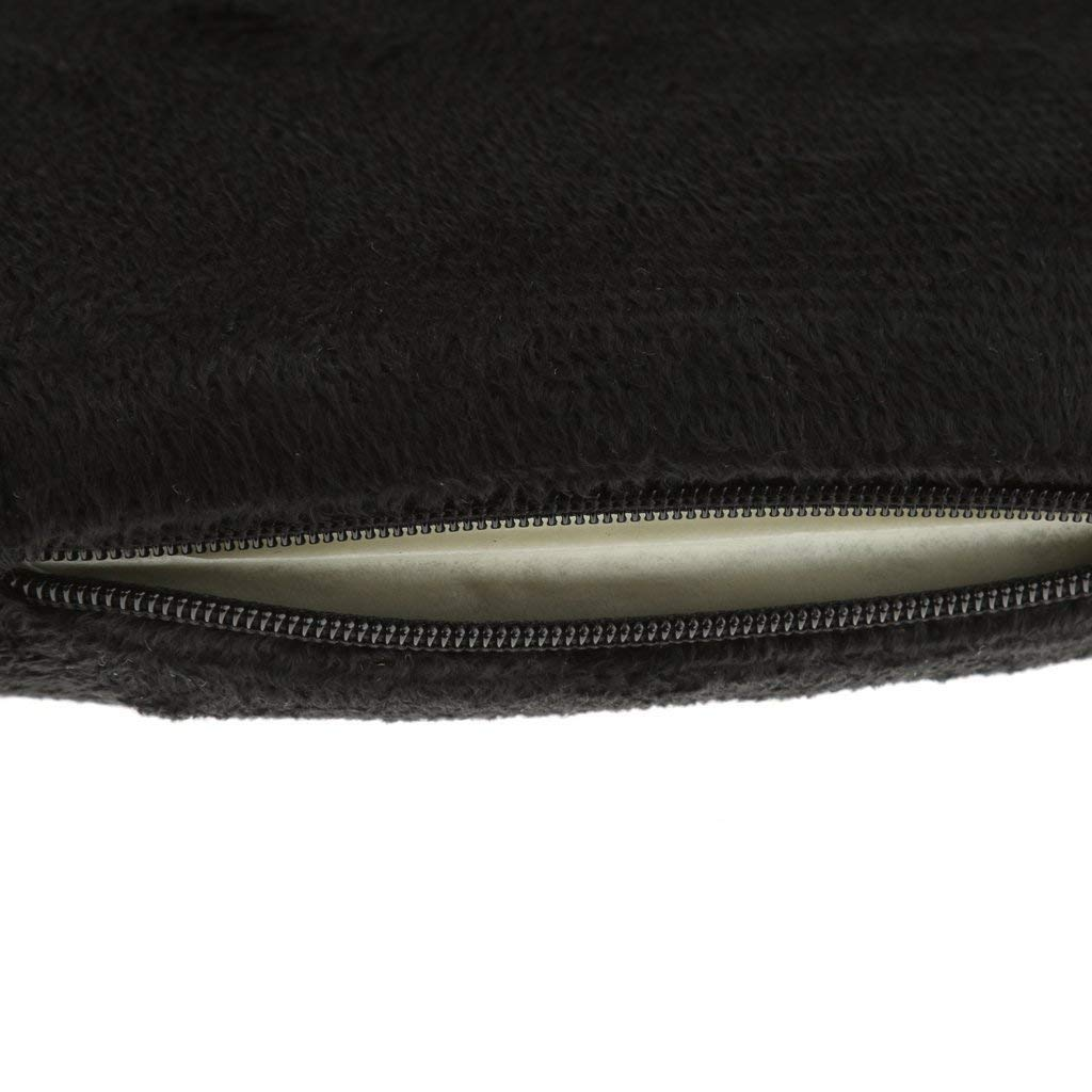 Negro Aofocy Coj/ín Soft Seat Pad Silla Invierno y Verano Uso Dual Muy Adecuado para Trabajadores de Oficina