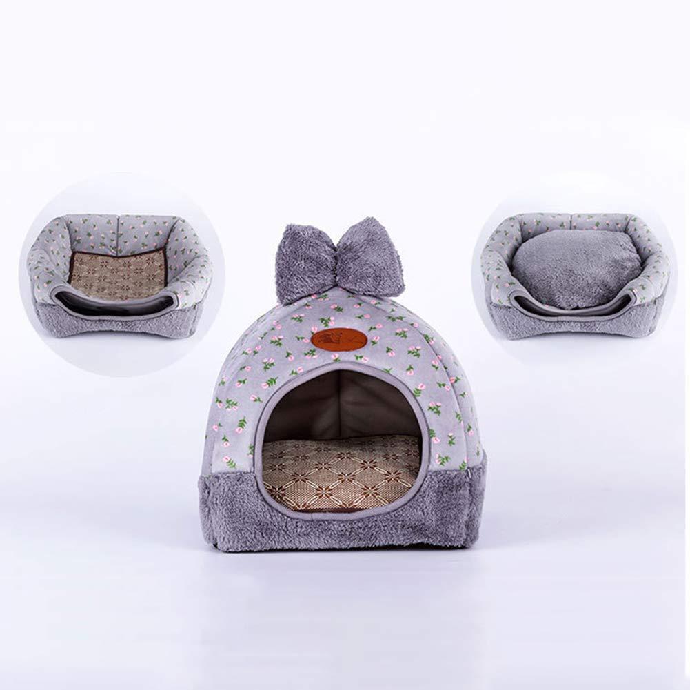 Shangwelluk Cama Cachorro de Gato Plegable Suave y c/álido Cueva Nido Interiores y Exteriores Port/átil Plegable de Cama para Perro//Cama para Gato Una Casa Caliente para su Mascota-L