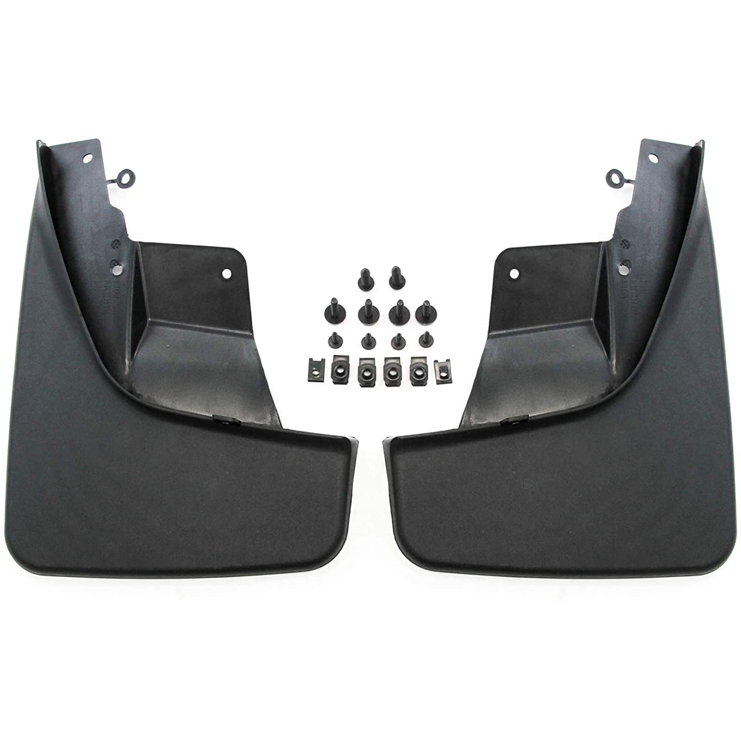 Red Hound Auto 2011-2018 Compatible with Jeep Grand Cherokee Mud Flaps Mud Guards Splash Front Molded 2pc Pair