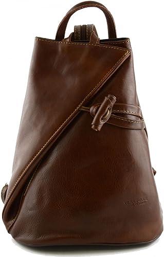 Damen Echtes Leder Rucksack Mit Träger Und Reißverschluss