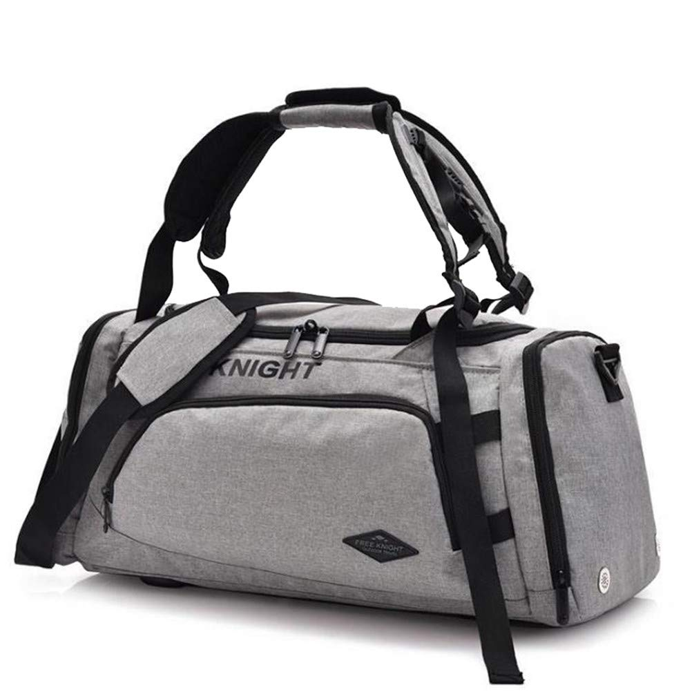 Sakek.B Canvas Sports Gym Bags Outdoor Fitness Training Yoga Luggage Shoulder Crossbady Bag for Men Women Travel Handbag