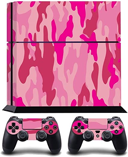 Pink Camouflage Print PS4 PlayStation 4 Vinyl Wrap / Skin / Cover / Pegatina para Sony PlayStation 4 Console y PS4 Controllers: Amazon.es: Hogar