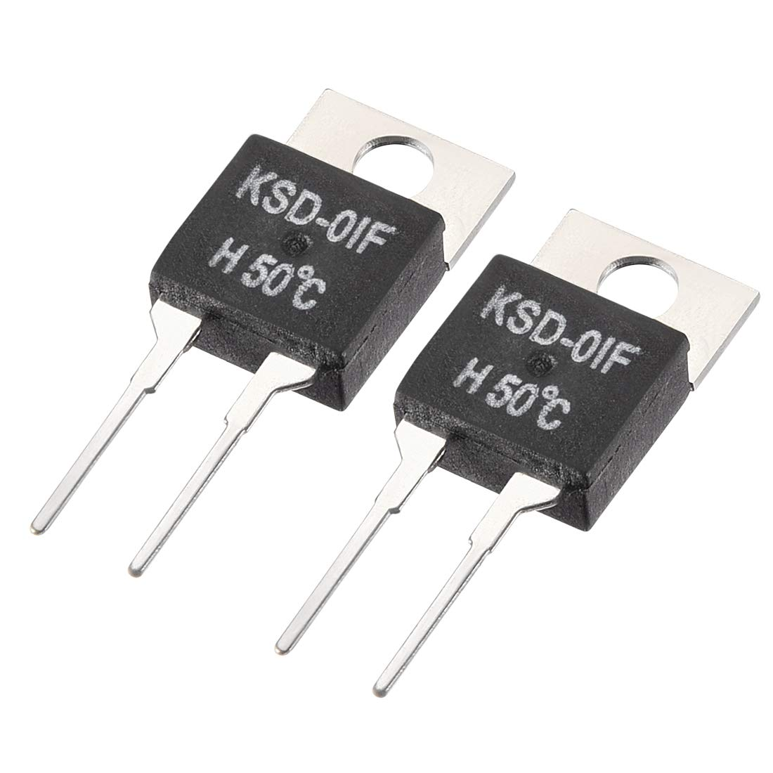 40 Degree Sourcingmap KSD-01F termostato controlador de temperatura N.O Normal Open 2pieza s