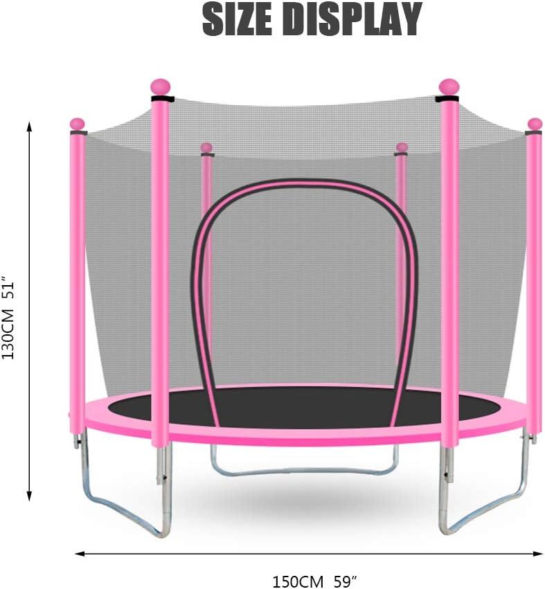 GSH- Trampoline Trampolín Rosa para niños, Combo de Rebote para ...
