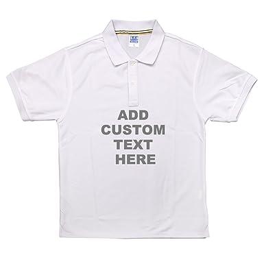 Polo camisas Polo personalizado fotos con su texto o en tu por ...