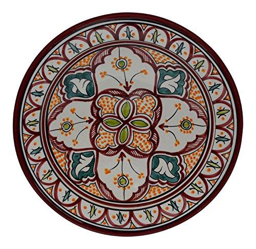 Handmade Ceramic Platter In Coastal Kitchen: Ceramic Plates Moroccan Handmade Serving Wall Hanging