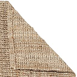 Safavieh Natural Fiber Collection NF447A Hand Woven Natural Jute Area Rug (5\' x 8\')