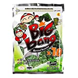 Taokaenoi Seaweed Snacks Most Famous Thai Nori Grilled Crispy Seaweed Sheets Classic Flavour, Big Bag, Value Pack (72g) 12 Packs