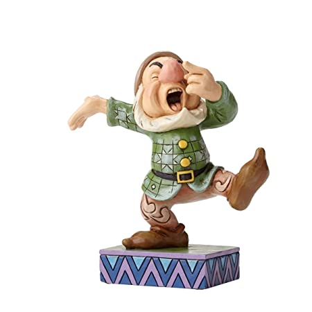 Disney Traditions by Jim Shore Snow White and the Seven Dwarfs Sneezy Stone Resin Figurine, 4.25