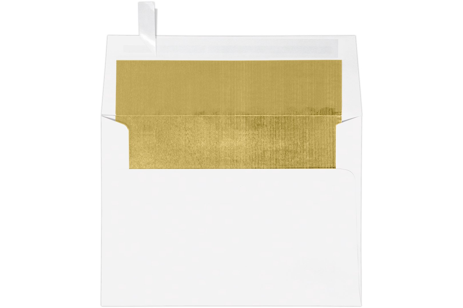 A7 Foil Lined Invitation Envelopes (5 1/4 x 7 1/4) w/Peel & Press - White w/Gold LUX Lining (1000 Qty.) | Perfect for the HOLIDAYS, 5x7 Photos, Invitations, Greeting Cards and More! |FLWH4880-04-1M