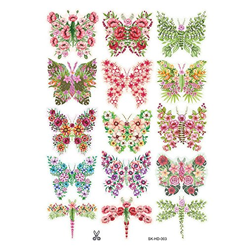 OTTATAT Wall Stickers for Kids 2019,3D DIY Butterfly PVC Art Decal Home Decor Kids Room Wall Mural Stickers Easy to Peel Independence Day Holiday Gift for Mother Free Deliver -