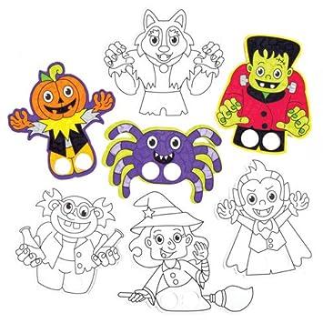 Marionetas de Dedos con Personajes de Halloween para Colorear a ...