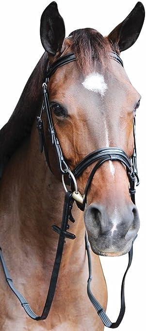Henri de Rivel Pro Mono Crown Fancy Bridle Stress-Free Patent Piping