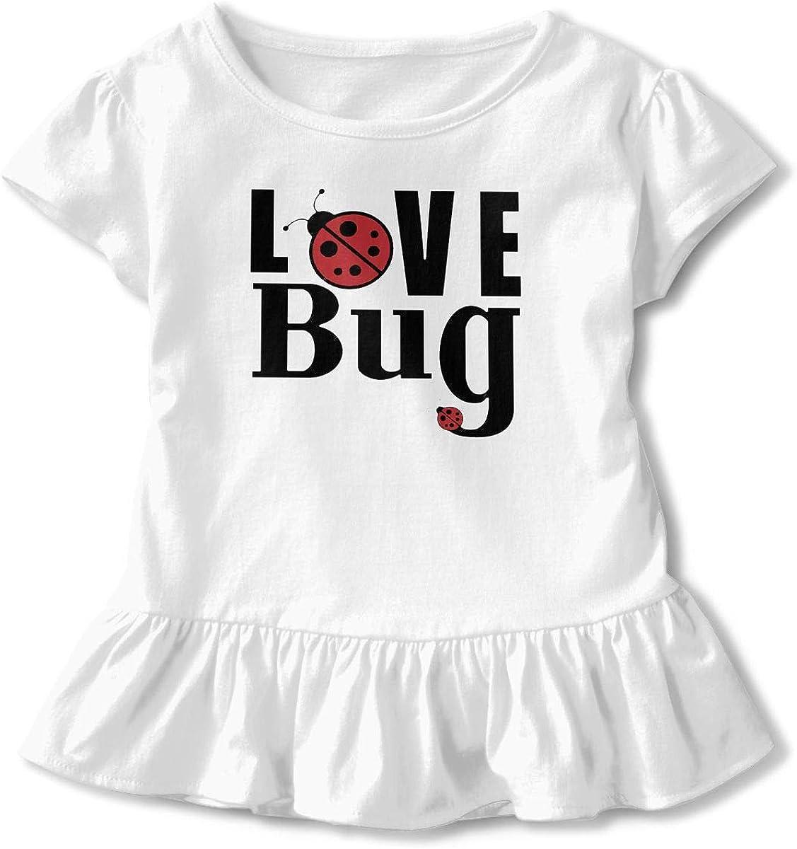 Love Ladybugs Baby Skirts Adorable Kids T Shirt Dress Comfortable Flounces Layette