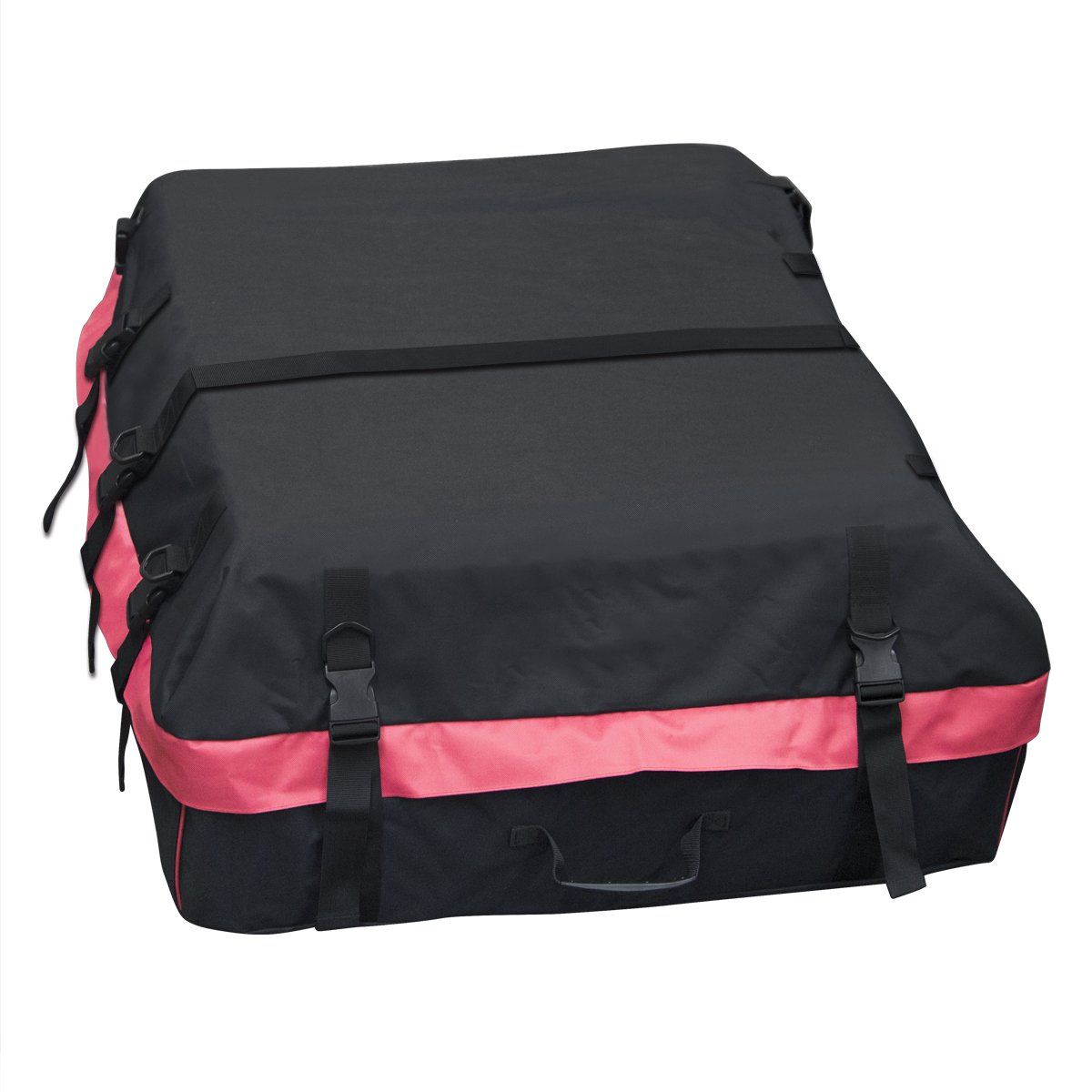 Car Roof Bag Cargo Bag:Storage Box Roof Top Bag For Travel ,Super Strong Car Top Carrier Waterproof 10 Cubic Feet Storage Box , For Any Car With Roof Rails by Langbo