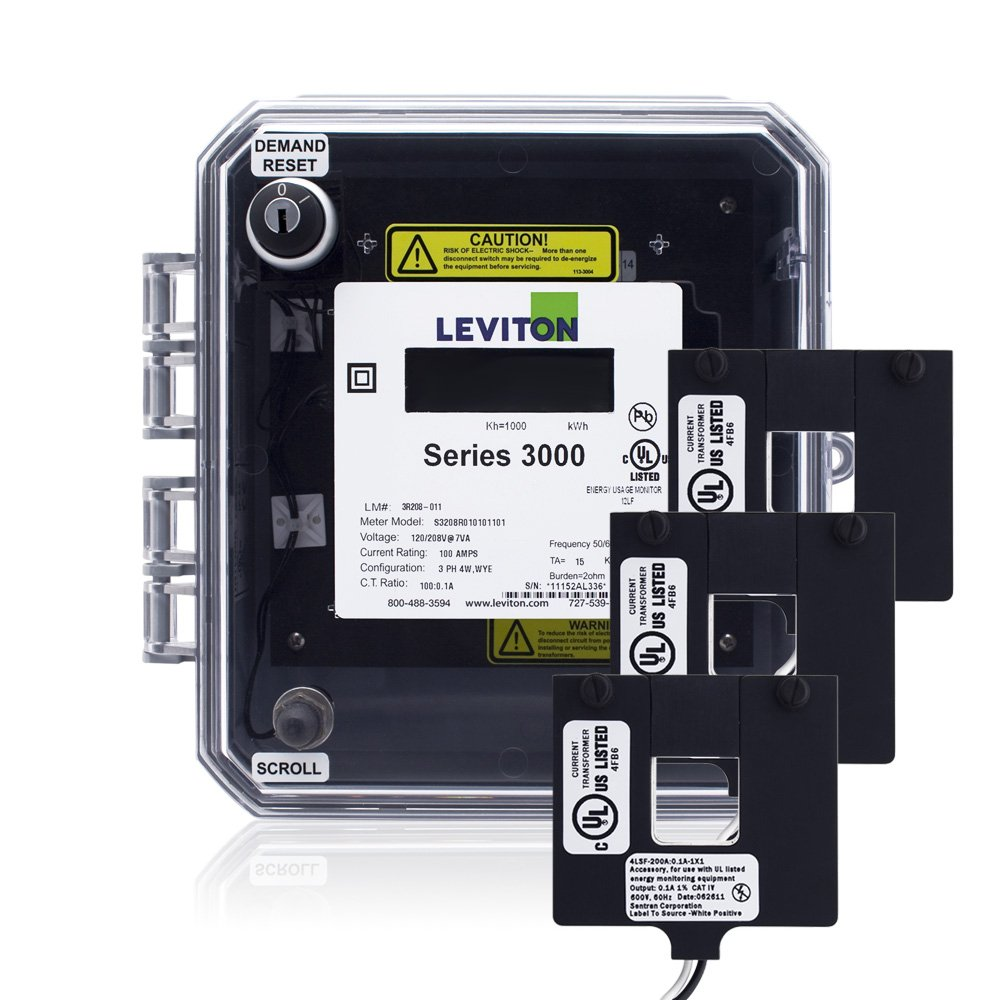 Leviton 3O24D-4D Series 3000 Outdoor Meter Kit 240VAC 3P3W 400A with ...