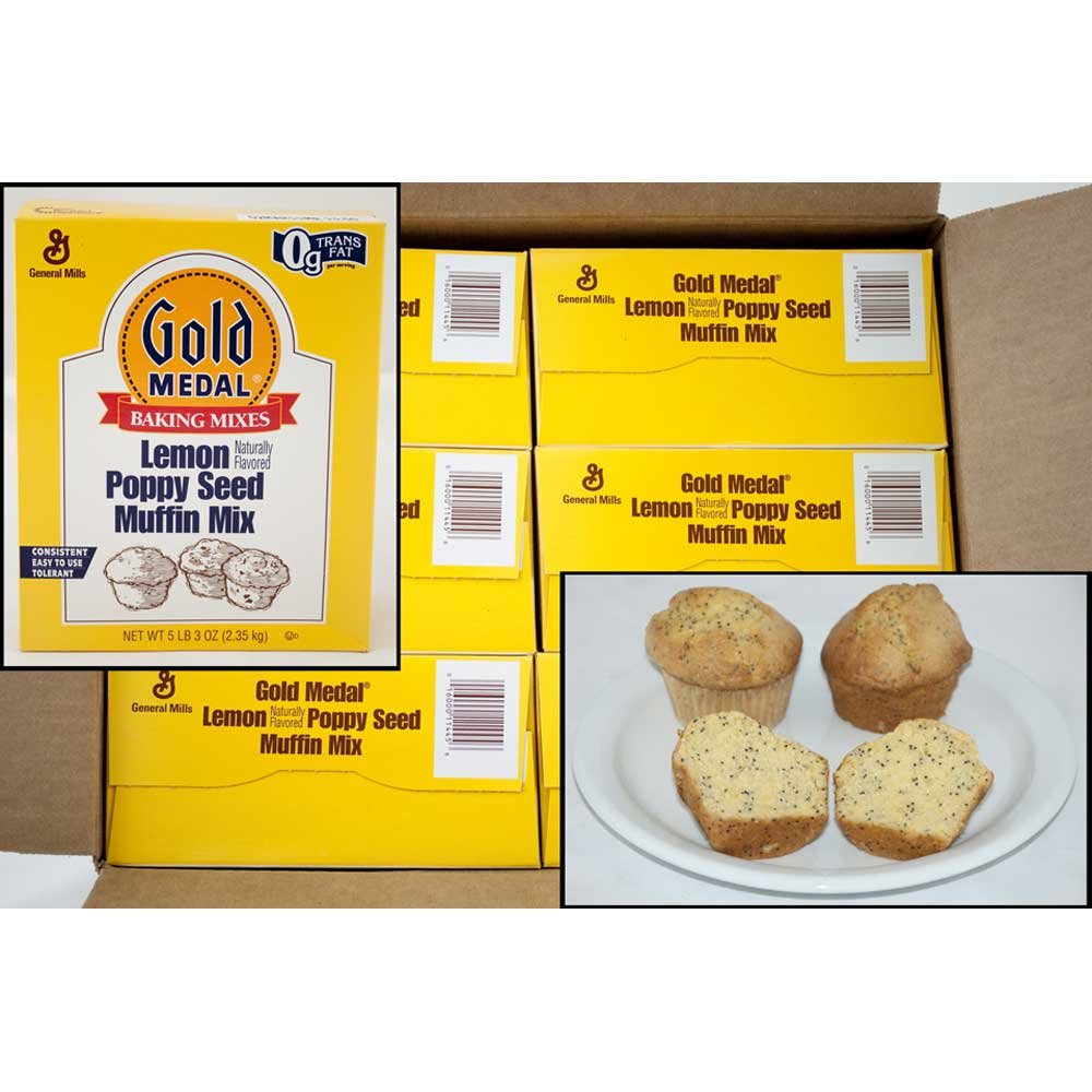 Gold Medal Lemon Poppyseed Muffin Mix 6 Case 5.13 Pound by General Mills