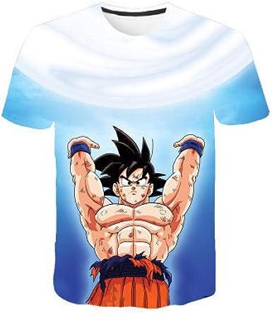 FesiAq Camiseta Estampada en 3D con Estampado 3D de Manga ...
