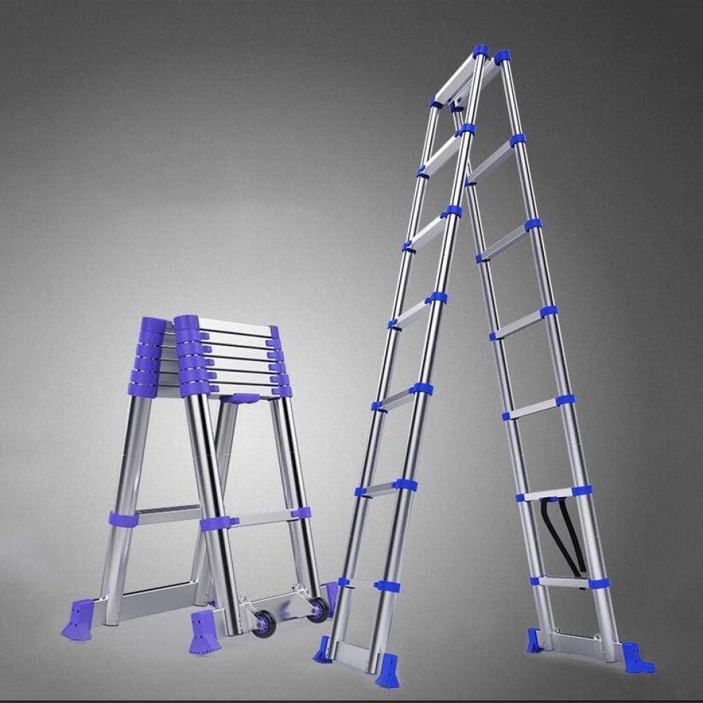 HL-TD Escaleras Extensibles Escalera Plegable De Aluminio De Extensión Plegable Telescópica Escalera Recta Telescópicos Escaleras Capacidad 150kg / 330lb Heces (Size : 1.45+1.45A-shapedladder): Amazon.es: Hogar