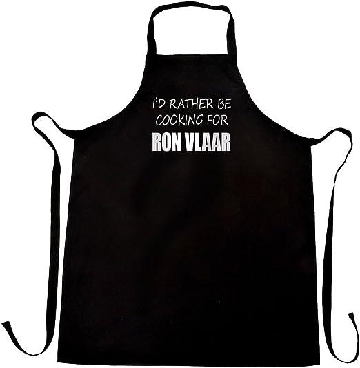 I d Rather BE cocina para Ron Vlaar delantal, diseño y ...