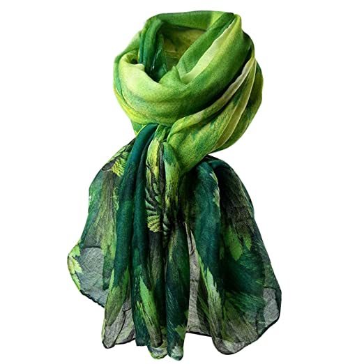 0ab3f73bc7617 Autumn Warm Shawl,Floral Printing Long Soft Scarf Paris Yarn Wraps Stole