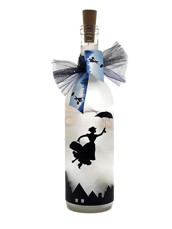 Mary poppins Led Glass Bottle