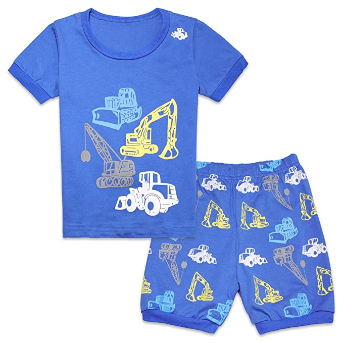 d884e13fd38c Tkala Fashion Boys Pajamas Children Clothes Set 100% Cotton Little Kids Pjs  Sleepwear (5