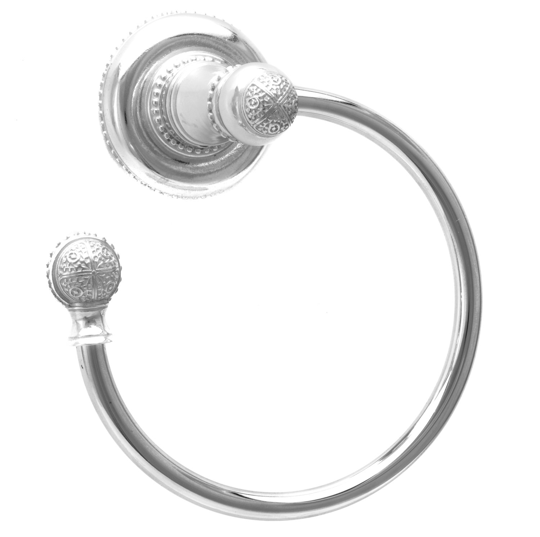 Carpe Diem Hardware 1443-24 Millennium Towel Ring Left, Platinum