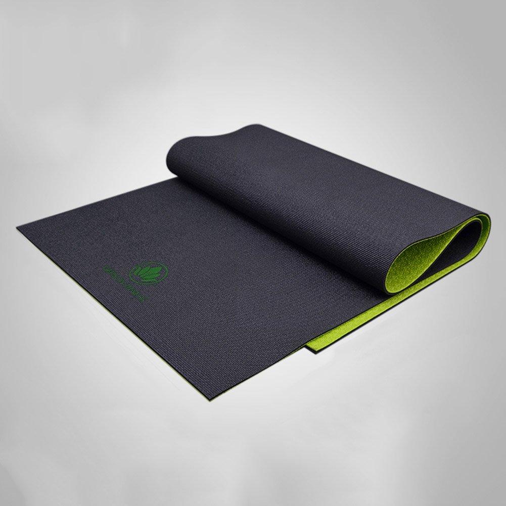 QIDI Yogamatte Gummi Fitness Rutschfest Dünn Aerobic-Matte 183  61  0,6cm (Farbe : T-1)