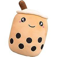Lifelike Bubble Tea Plush Toy with Suction Tubes Soft Boba Pillow Plush Lovely Bubble Tea Cup,Plush Pillow Stuffed…