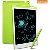 Richgv LCD Writing Tablet with Stylus, 8.5 Inch Digital Ewriter Electronic Graphic Drawing Tablet Erasable Portable Doodle Mini Board Memo Notepad for kids Learning Toys Birthday Gifts(Green)
