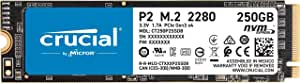Crucial P2 250GB 3D NAND NVMe PCIe M.2 SSD, CT250P2SSD8