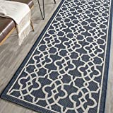 Cheap Safavieh Courtyard Collection CY6071-268 Navy and Beige Indoor/Outdoor Area Rug (2'7″ x 5′)