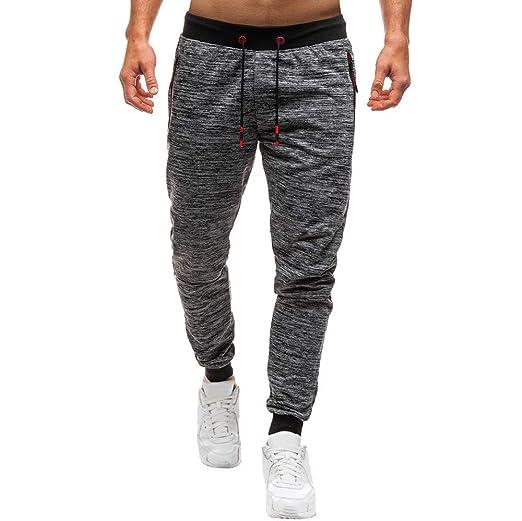 Pantalón para Hombre, Hombres otoño Joggings Patchwork Casual con ...