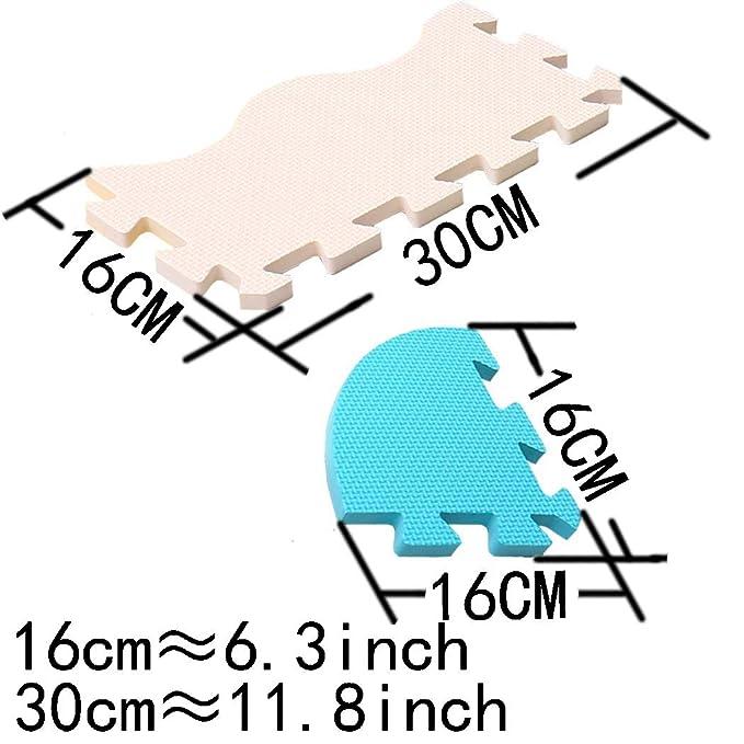 MQIAOHAM Soft Puzzle Play Mats - Estera de Espuma entrelazada para niños - Activity Puzzle Playmats - Protección para el Piso - Estera de Goma Espuma ...