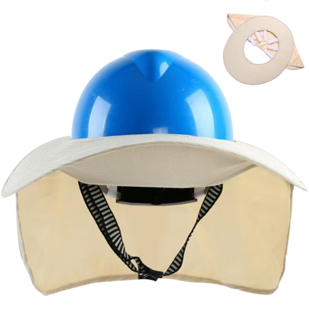 TINTON LIFE Premium Quality Safety Helmet Hard Hat Sunshade with Detachable Neck Shade(Beige)