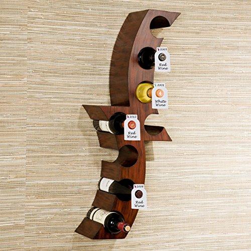 Reusable Wine Bottles Tag Racks Bottle Labels Hang Tags Cellar Storage Glass Markers Plastic Custom Label Fit Enthusiast Erasable Wipes Dry Erase Marker Colored Rack Bulk Blank Liquor Hangers 120 PCS by Dapper Display (Image #1)