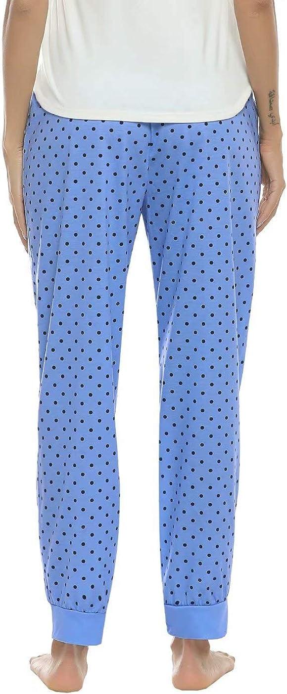 Donna Pantaloni Sportivi per Casa Casual Aiboria Pantaloni da Pigiama Donna Pigiama Pantaloni da Notte Donna in Cotone