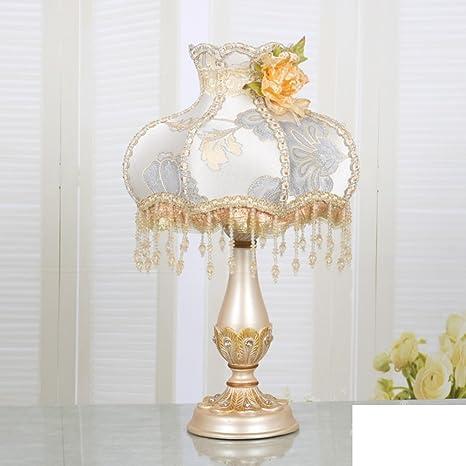ZXC lámpara europea mesa antigua sala de estar/Dormitorio de la lámpara de cabecera de