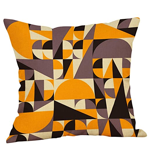 Sonojie Funda de cojín con Estampado geométrico para sofá ...