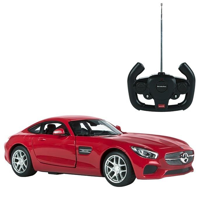 Rastar - Mercedes AMG GT, coche teledirigido con puertas que se abren, escala 1:14, color rojo (ColorBaby 85000): Amazon.es: Juguetes y juegos
