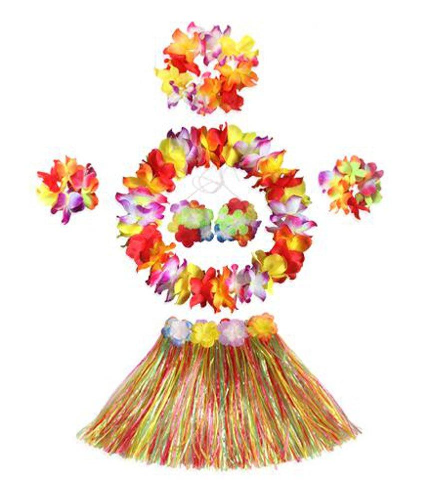 East Majik Bunt hawaiianischen Hula-Kost/üm-Tanz-Kost/üm f/ür Kinder