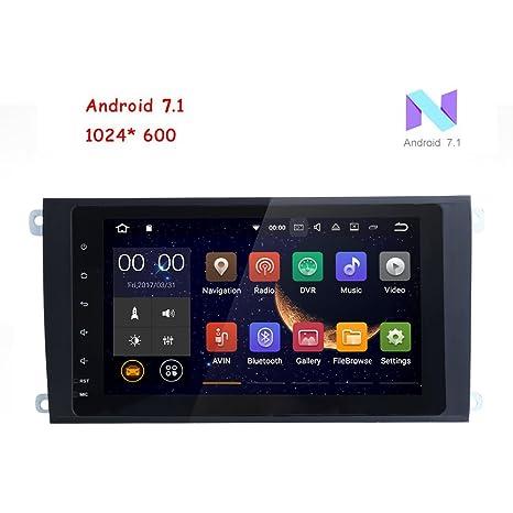 Freeauto para Porsche Cayenne 8 pulgadas 2 Din Android 7.1 Quad Core 1024 pantalla táctil HD