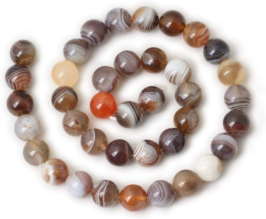 Qiwan 60PCS 6mm Indian Agate Gemstone Loose Beads Natural Round Crystal Energy Stone Healing Power for Jewelry Making 1 Strand 15