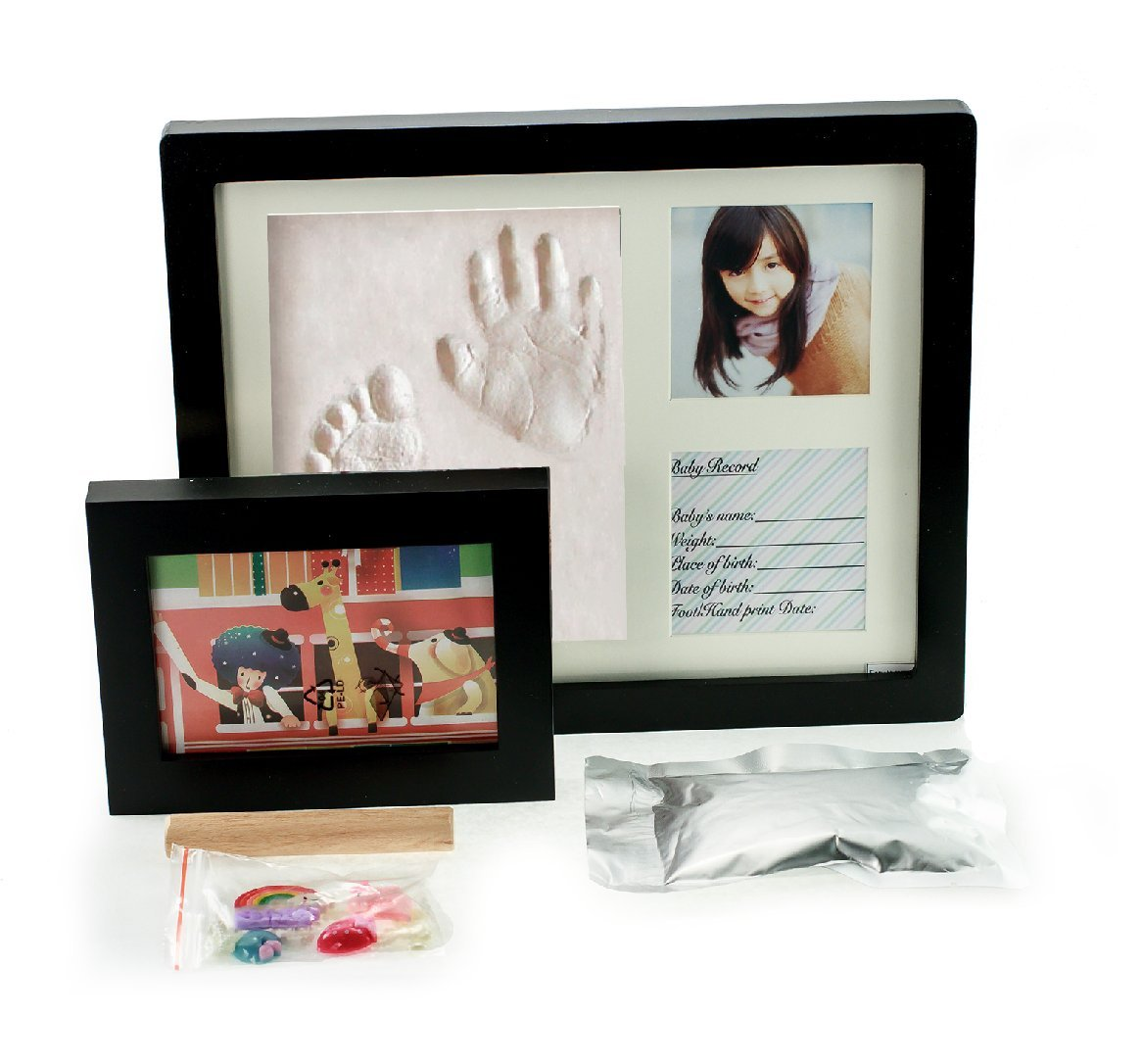 Amazon baby handprint kit footprint photo frame for newborn amazon baby handprint kit footprint photo frame for newborn girls and boys personalized baby gifts keepsake box decorations for room wall nursery negle Image collections