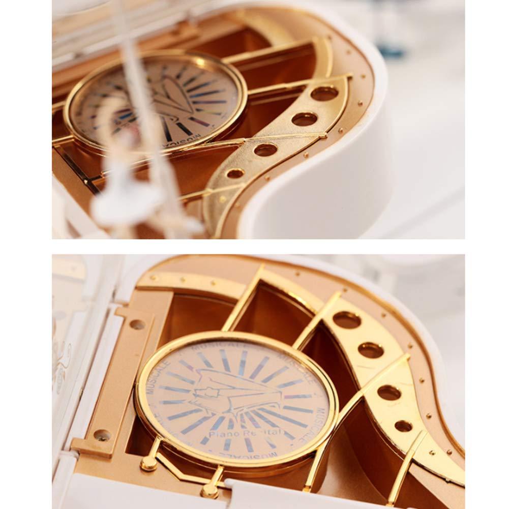 Xiton 1Pc Piano Shape Music Box Classic Birthday Gift Decoration Mechanism Piano Musical Box