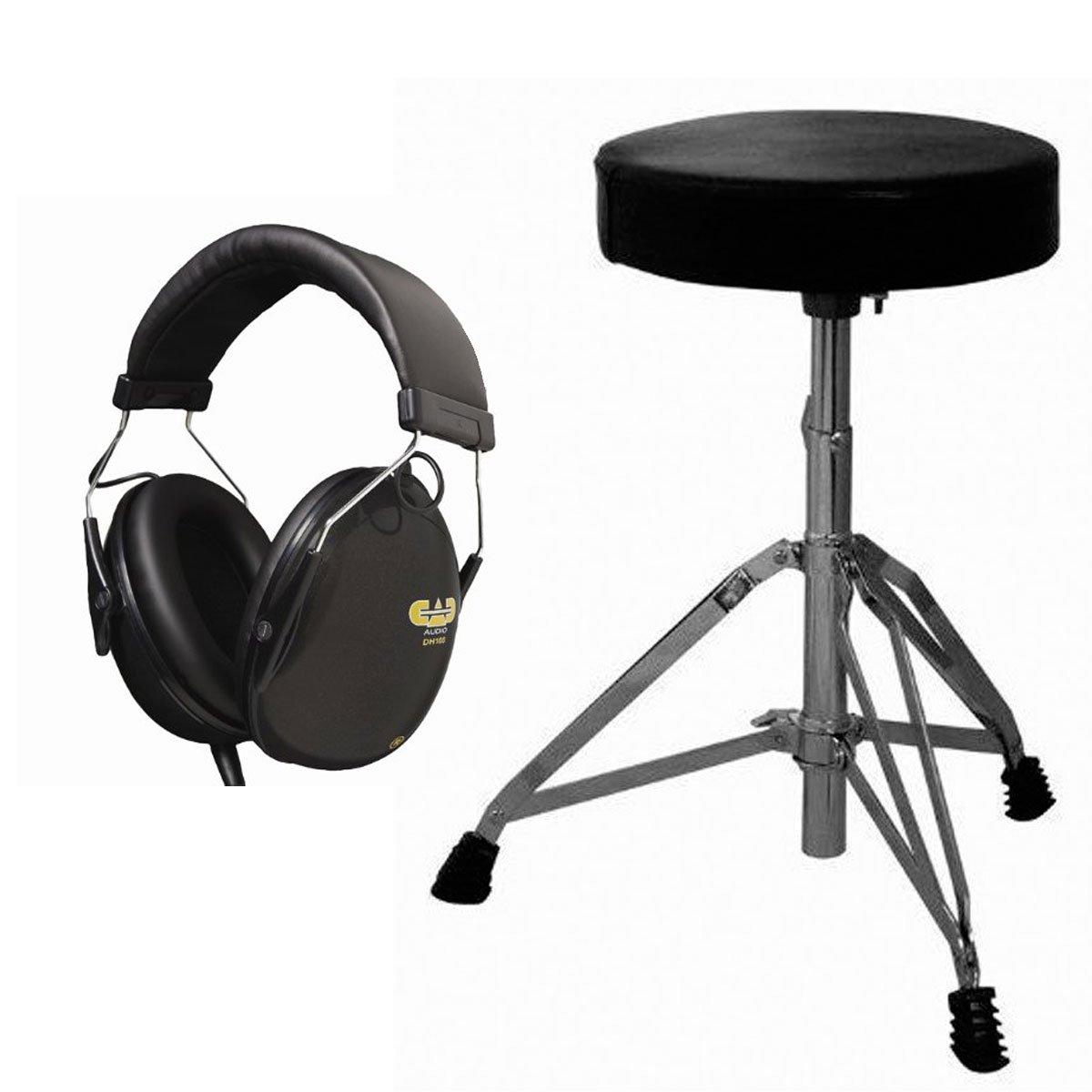 On-Stage MDT2 Double-Braced Drum Throne + CAD Audio DH100 Drummer Isolation Headphones