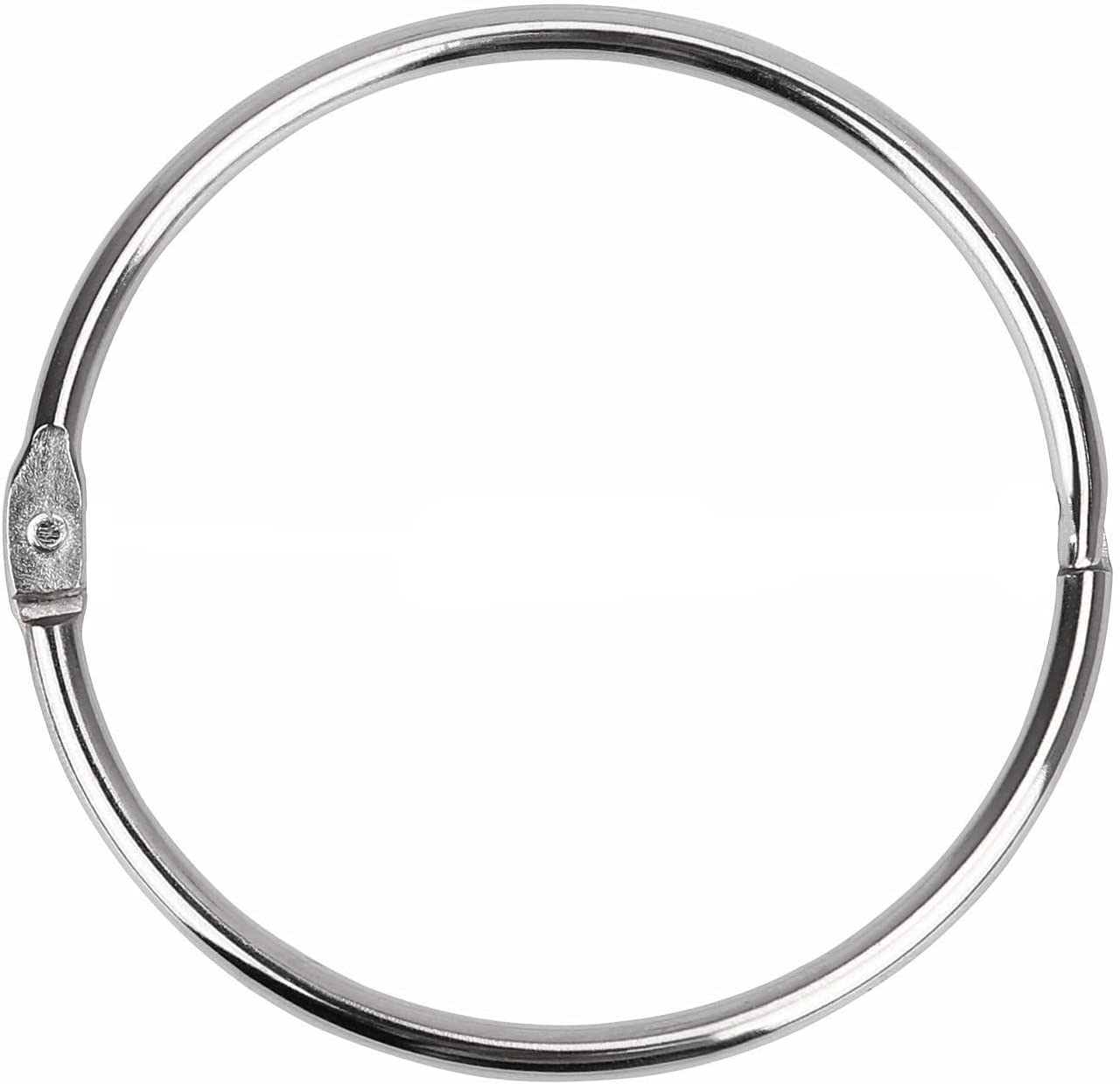 Binder Rings Loose Leaf Book Ring (8 Pack) Large 2.75 Inch Diameter Nickel Plated (Silver )