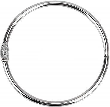 Binder Rings Loose Leaf Rings Book Clips(20 Pack)2 Inch Diameter Nickel Plated Silver